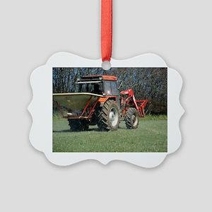 Spreading fertiliser - Picture Ornament