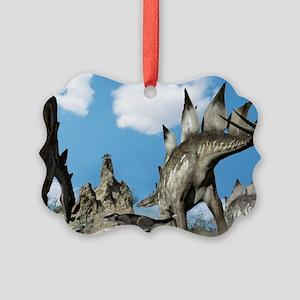 Stegosaurus dinosaur - Picture Ornament