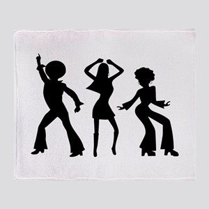 Disco Silhouettes Throw Blanket