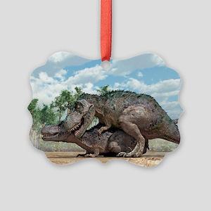 Tyrannosaurus rex dinosaurs mating - Picture Ornam