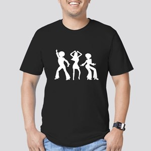 Disco Silhouettes Men's Fitted T-Shirt (dark)