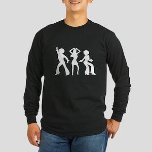 Disco Silhouettes Long Sleeve Dark T-Shirt