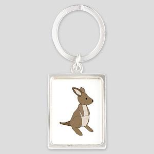 kangaroo Portrait Keychain
