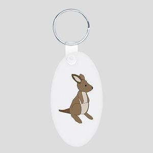 kangaroo Aluminum Oval Keychain