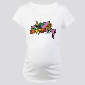 Maryland Map Maternity T-Shirt
