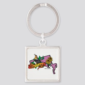 Maryland Map Square Keychain