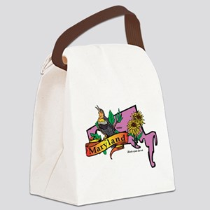Maryland Map Canvas Lunch Bag