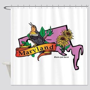 Maryland Map Shower Curtain