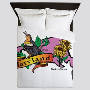 Maryland Map Queen Duvet