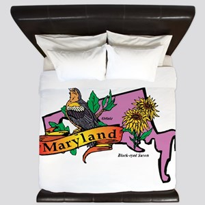 Maryland Map King Duvet