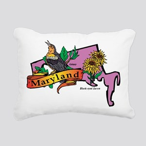 Maryland Map Rectangular Canvas Pillow