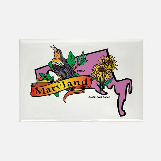Maryland Map Rectangle Magnet