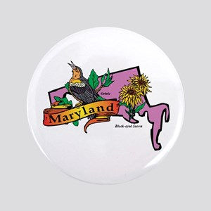 """Maryland Map 3.5"""" Button"""