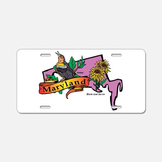 Maryland Map Aluminum License Plate