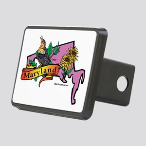 Maryland Map Rectangular Hitch Cover