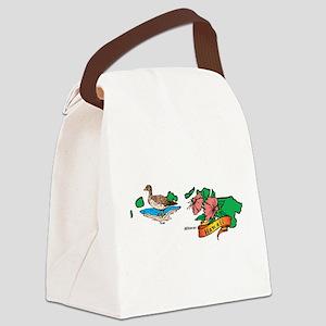 Hawaii Map Canvas Lunch Bag