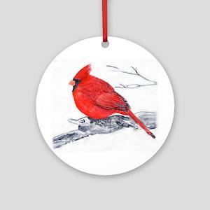 Cardinal Painting Ornament (Round)