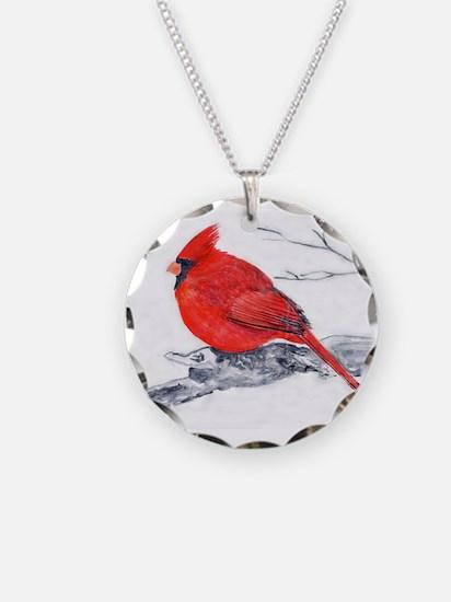 Cardinal Painting Necklace
