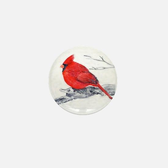 Cardinal Painting Mini Button