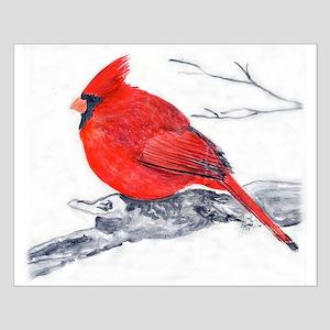 Cardinal Painting Small Poster