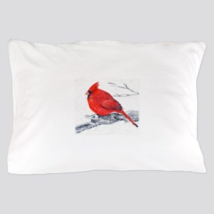 Cardinal Painting Pillow Case
