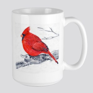 Cardinal Painting Large Mug