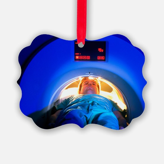 Patient passes into a CT scanner - Ornament