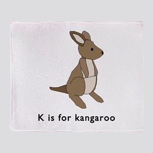 k is for kangaroo Throw Blanket