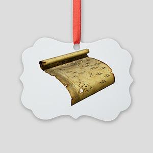 Pirate's treasure map, artwork - Picture Ornament