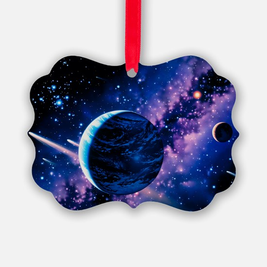 Artwork of comets passing the Earth - Ornament