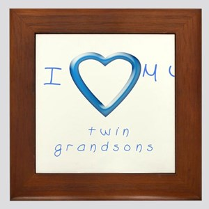 I love my twin grandsons Framed Tile