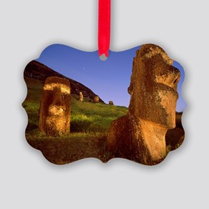 Easter Island statues - Picture Ornament