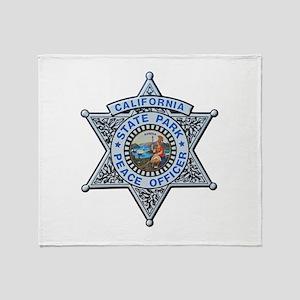 California Park Ranger Throw Blanket