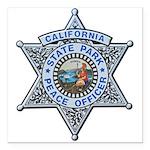 California Park Ranger Square Car Magnet 3