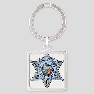 California Park Ranger Square Keychain