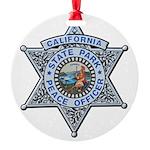 California Park Ranger Round Ornament