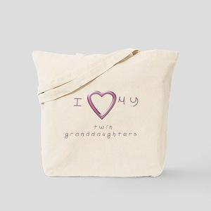 I love my twin granddaughters Tote Bag