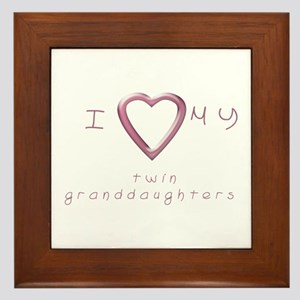 I love my twin granddaughters Framed Tile