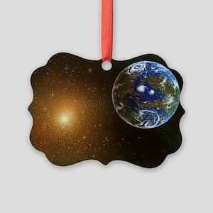 Habitable alien planet, artwork - Picture Ornament