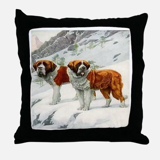 Alpine St. Bernards 1920 Digi Throw Pillow