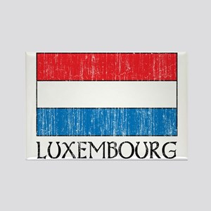 Luxembourg Flag Rectangle Magnet