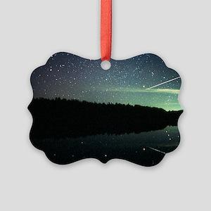 Meteor over lake - Picture Ornament