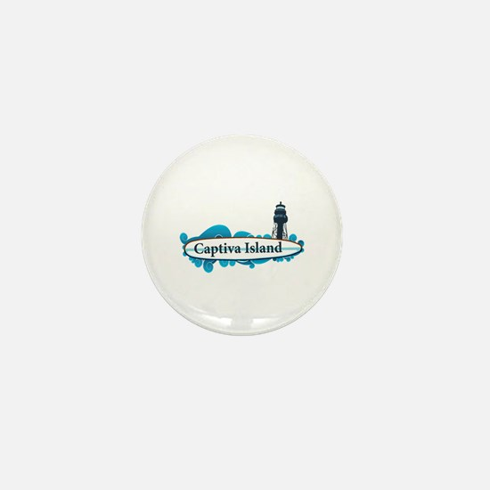 Captiva Island - Surf Design. Mini Button
