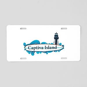 Captiva Island - Surf Design. Aluminum License Pla