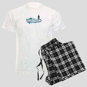 Captiva Island - Surf Design. Men's Light Pajamas
