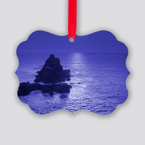 Moon over water - Picture Ornament