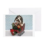 Dudley in Winter Sleigh-Greeting Card