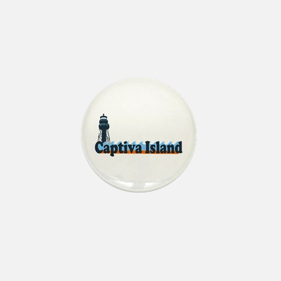 Captiva Island - Lighthouse Design. Mini Button