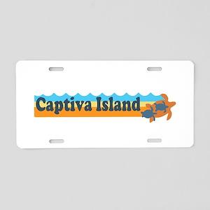 Captiva Island - Beach Design. Aluminum License Pl