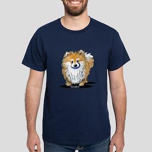 KiniArt™ Pomeranian Dark T-Shirt